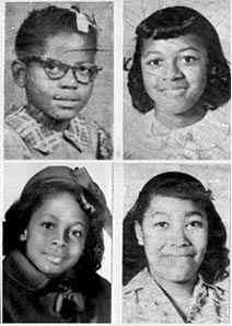 Portraits des 4 filles tuées lors de l'attentat. Love and Vinyl.